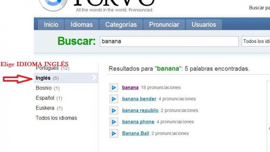 WEBSITE: Forvo (Pronunciación)