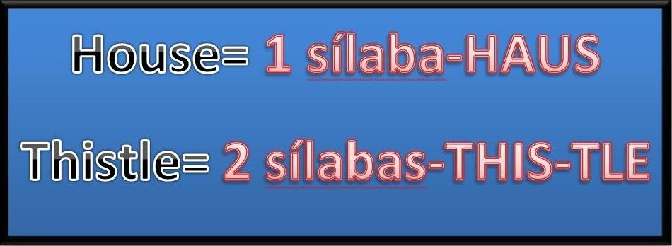 separacion de silabas en ingles