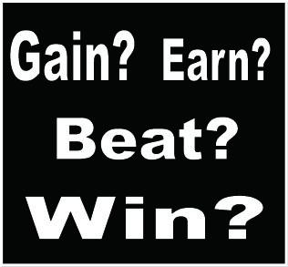 gain earn win beat