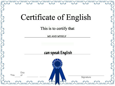 certificado inglés