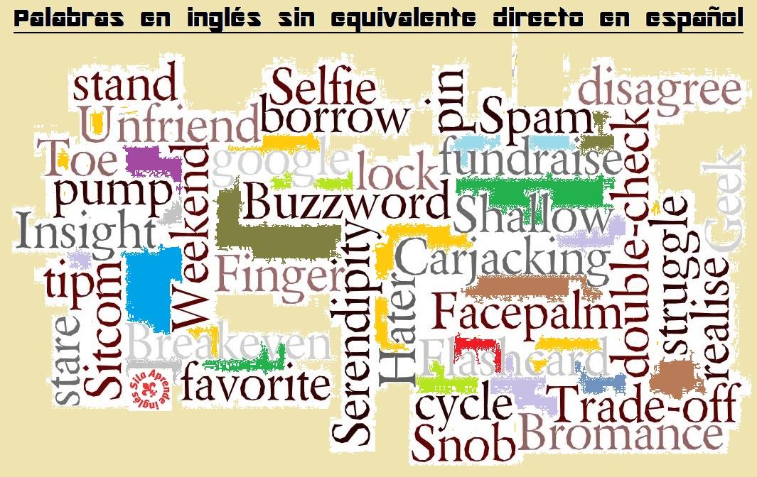 palabras inglés sin equivalente español
