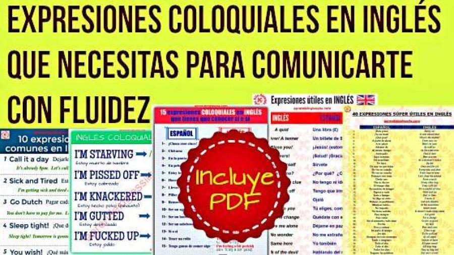 Expresiones coloquiales en inglés que necesitas para comunicarte con fluidez (PDF)