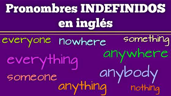 Pronombres Indefinidos En Inglés Somebody Anyone