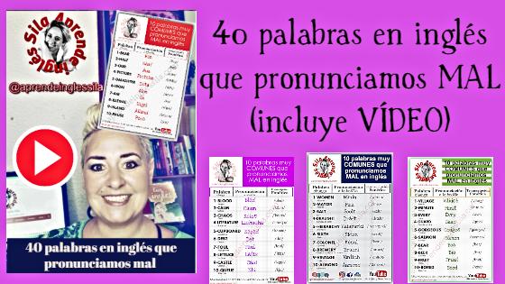40 palabras en inglés que pronunciamos mal